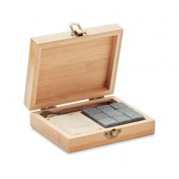 DUNDALK - Set pt whisky în cutie bambus  MO9942-40, Wood