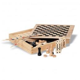 TRIKES - 4 jocuri în cutie din lemn     KC2941-40, Wood