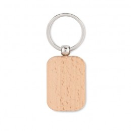 POTY WOOD - Breloc dreptunghiular din lemn MO9774-40, Wood
