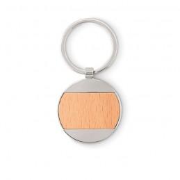 MATIKAS - Breloc rotund din lemn/zinc    MO9848-40, Wood