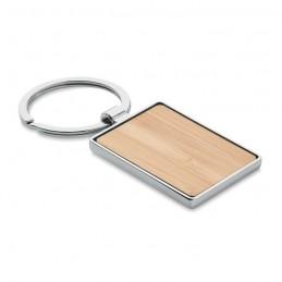 BENDIGO - Breloc bambus în formă pătrată MO9961-40, Wood