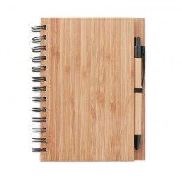 BAMBLOC - Carnet din bambus cu pix       MO9435-40, Wood