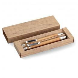 BAMBOOSET - Set din pix și creion bambus   MO8111-40, Wood