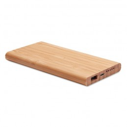 ARENA - Wireless powerbank în bambus   MO9662-40, Wood
