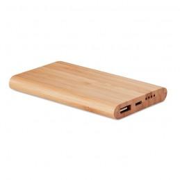 ARENAPOWER - Powerbank 4000 mAh în bambus   MO9663-40, Wood