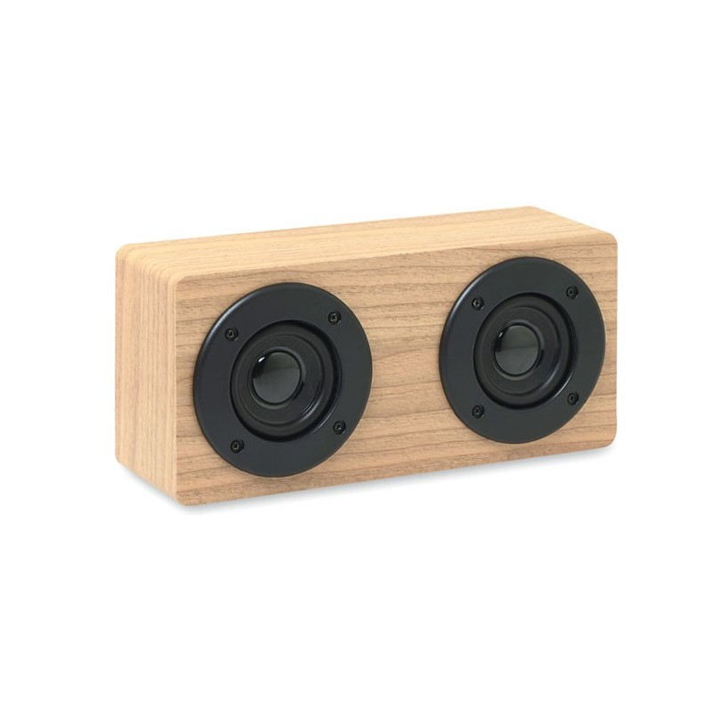 SONICTWO - Boxă bluetooth 2x3W 400 mAh    MO9083-40, Wood