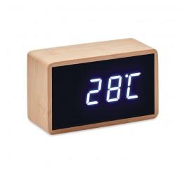 MIRI CLOCK - Ceas deșteptător LED în bambus MO9921-40, Wood