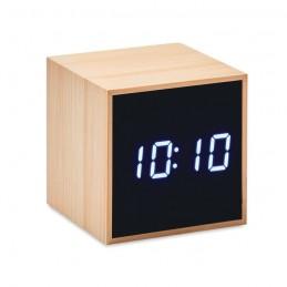 MARA CLOCK - Ceas deșteptător LED în bambus MO9922-40, Wood
