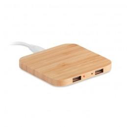CUADRO - Încărcător wireless din bambus MO9698-40, Wood