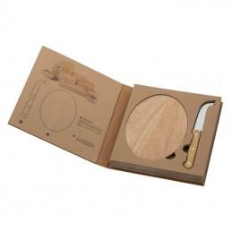 Set caşcaval cu tocător lemn - 8019113, Beige