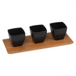 Castronaşe pe placă de bambus - 8079403, Black
