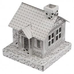 Căsuță de colorat, din carton - 5118806, White