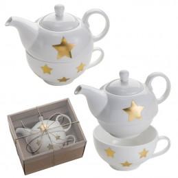 Set de ceai din porţelan 400 ML - 8061506, White