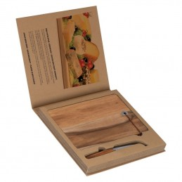 Placă lemn cu un cuţit caşcaval - 8083601, Brown
