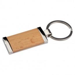 Breloc cu plăcuță din lemn - 9139601, Brown