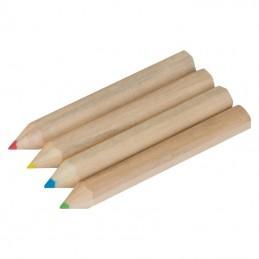 Set 4 creioane din lemn - 1112801, Brown