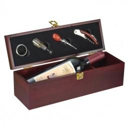 Cutie lemn pt o sticlă de vin - 8400701, Brown