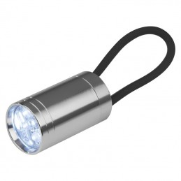 Lanternă cu silicon negru - 8092703, Black