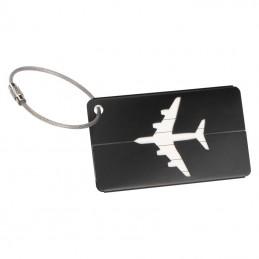 Etichetă valiză aluminiu - 9098703, Black