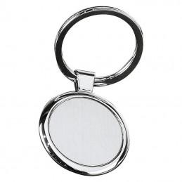 Breloc Rotund din metal - 9221107, Grey