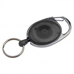 Breloc cu inel retractabil - 9117103, Black