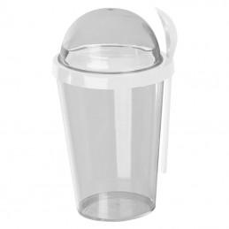 Pahar pentru iaurt cu lingură - 8098406, White