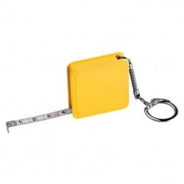 Ruletă de 1m, cu breloc - 8880808, Yellow