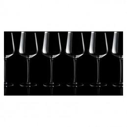 Set de 6 pahare ptr vin roşu - F22766, Transparent