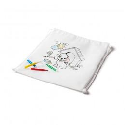DRAWS. Geantă de colorat pentru copii 92619.06, Alb