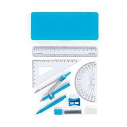 PITAGORAS. Set de geometrie școlar 93574.24, Albastru deschis
